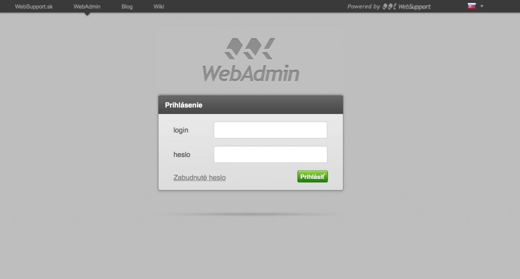 WebAdmin dizajn r. 2010