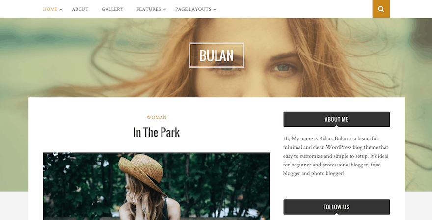 Bulan WordPress téma