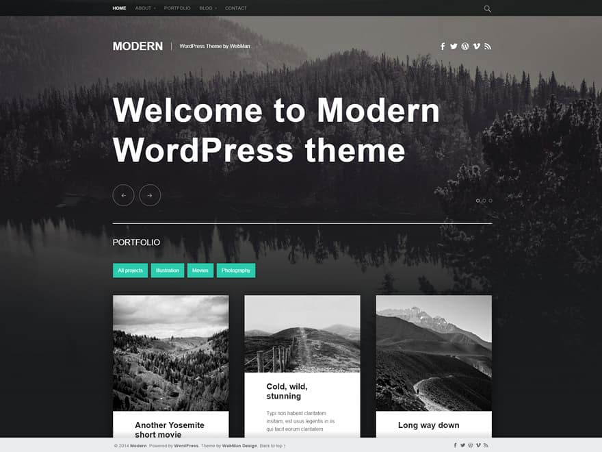 Modern WordPress téma