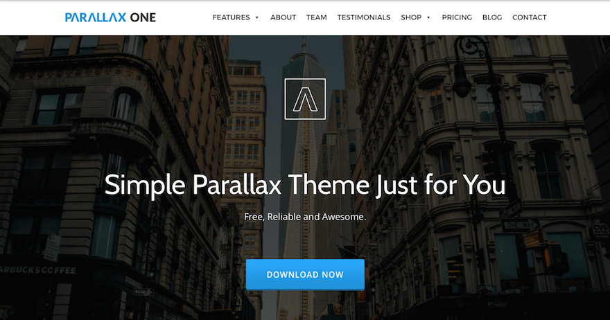 Parallax One WordPress téma