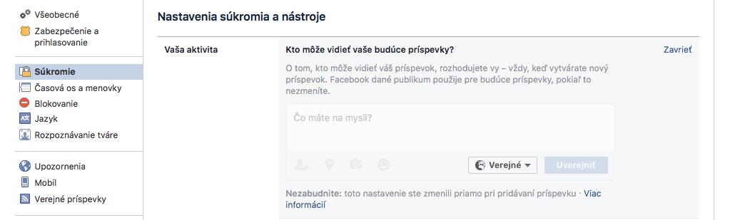Zobrazovanie príspevkov Facebook