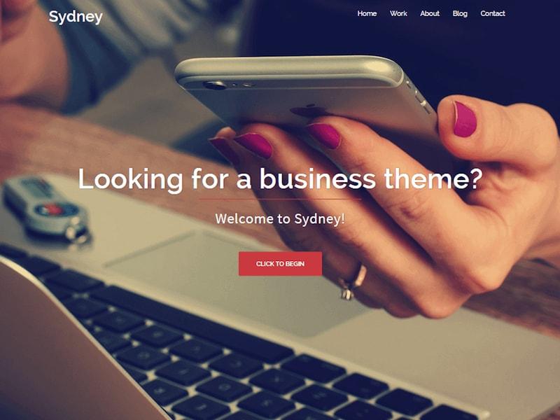 Sydney WordPress šablóna