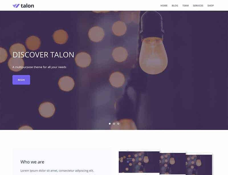 Talon WordPress šablóna