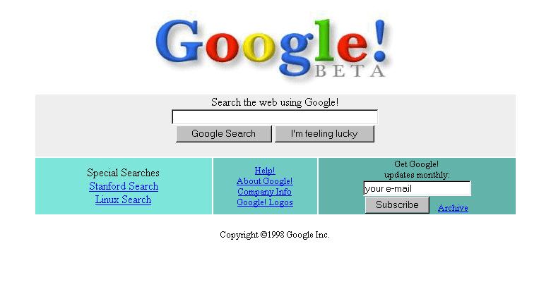 Google pôvodný web