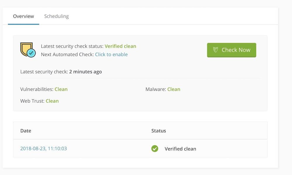 Bezpečnostná kontrola WordPress webu v prostredi ManageWP