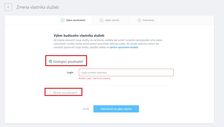 2ff8d8731 Presun služby na iného užívateľa – WebSupport báza znalostí