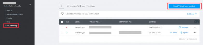 Inštalácia SSL certifikátu na vlastnú webstránku – WebSupport báza ... fa19e21b716